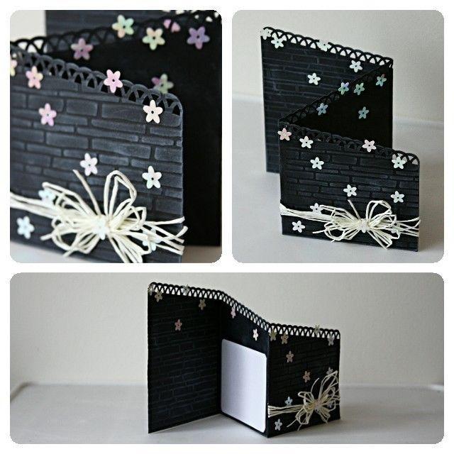 three fold black brick handmade card in crafts  ebay