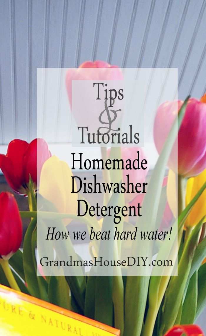 Homemade dishwasher detergent, how we beat hard water for mere ...