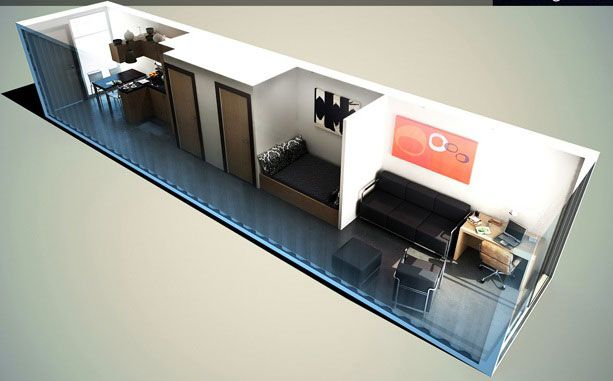 Tiny Home Designs: A 40 Ft Container Layout