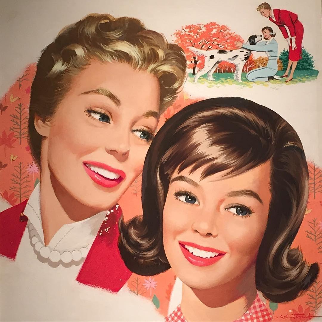 Kotex Ad by John Whitcomb c. 1950s.: