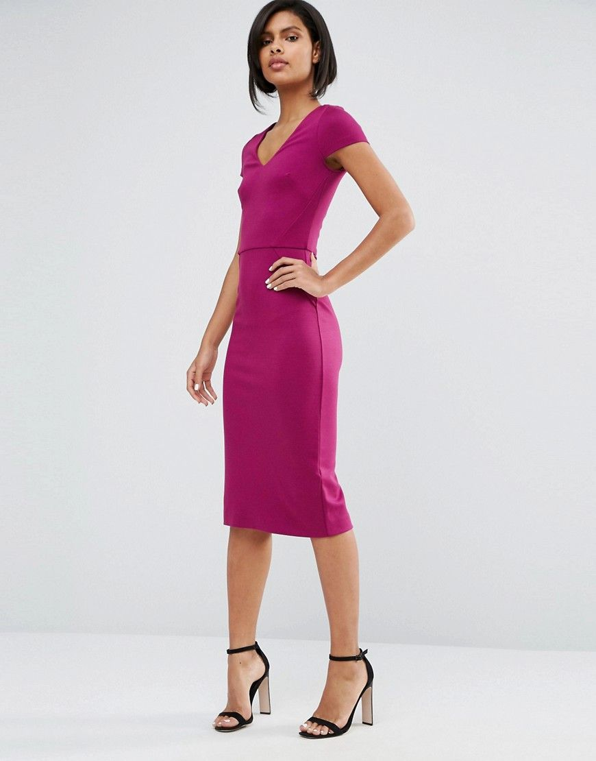 French Connection Lula Stretch Midi Dress At Asos Com Stretch Midi Dress Maxi Dress Prom Women Dress Online [ 1110 x 870 Pixel ]