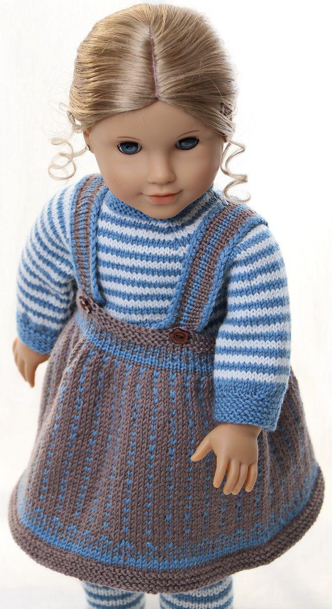 Puppen stricken anleitung | Puppen Kleider | Pinterest | Bebe