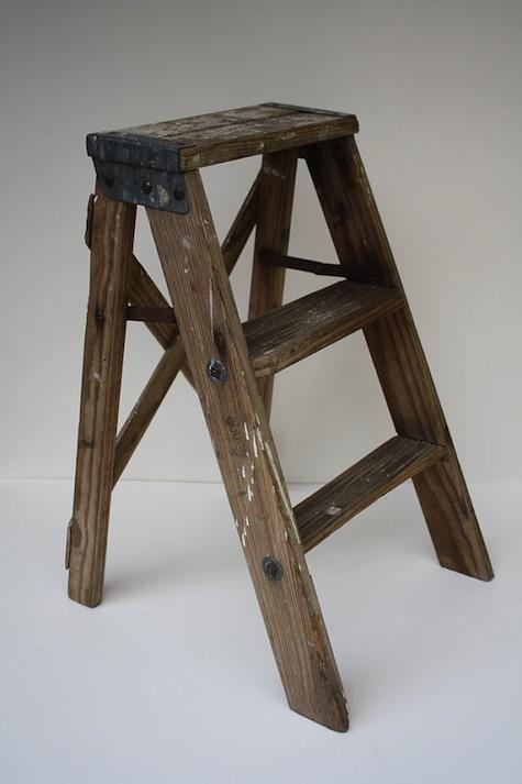Vintage Wooden Step Ladder Remodelista Wooden Steps Step Ladders London Home Decor