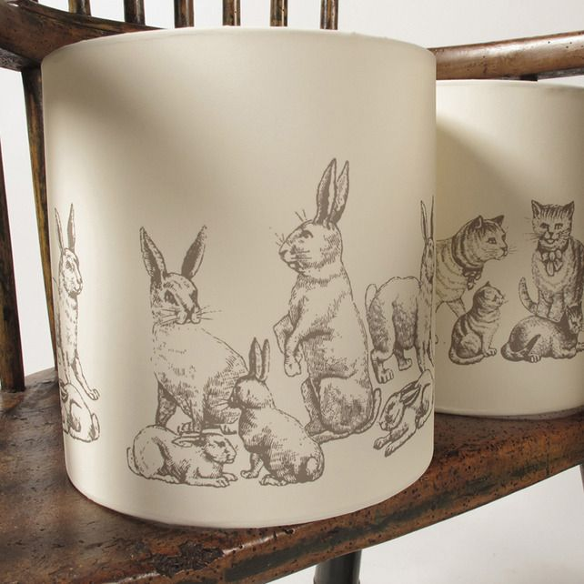 Little bunny lamp shade, reminds me of beatrix potter