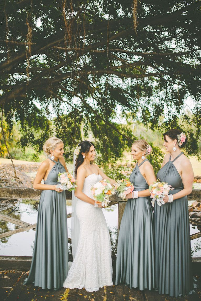 Nature wedding dress  Our Gorgeous Signature Multiway Bridesmaids Dresses in Dark Platinum
