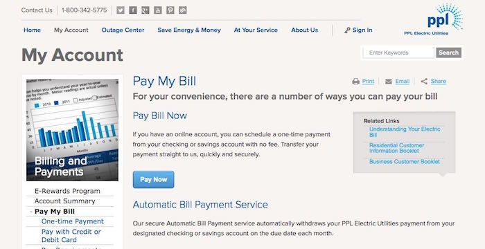 Ppl Electric Bill Pay Pay Your Bills Customer Service