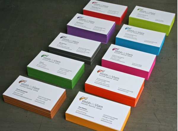 Colorfull business cards