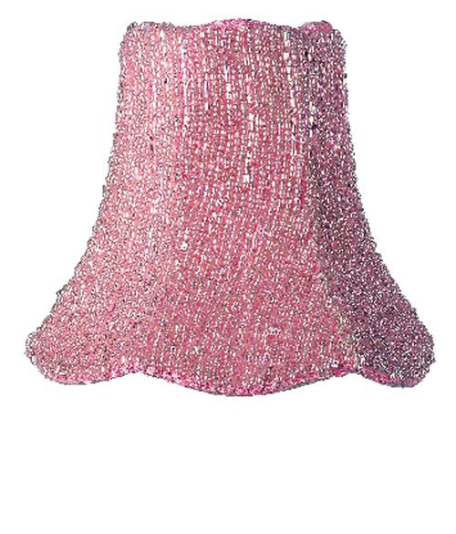 Pink glass bead chandelier shade aloadofball Gallery