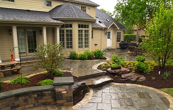 front yard patio - Google Search | Concrete patio designs ... on Concrete Front Yard Ideas id=14830