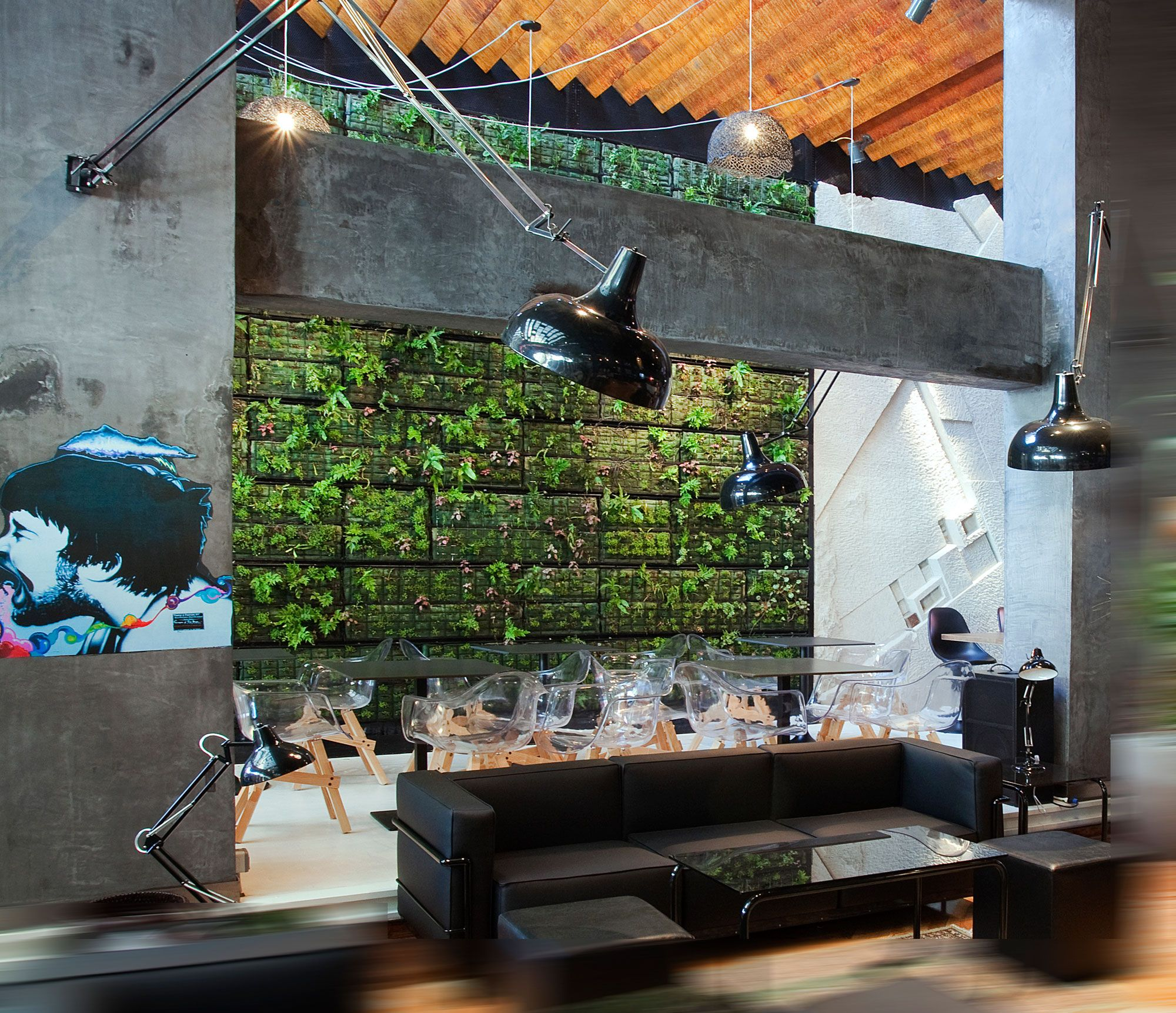 coffee shop decor and interior design in athens | living walls