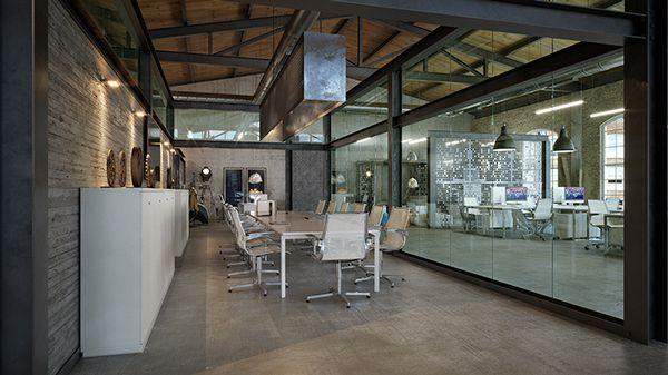 OFFICE DESIGN - Loft IT office interior design on Behance SC Space - sample of architectural intern design resume
