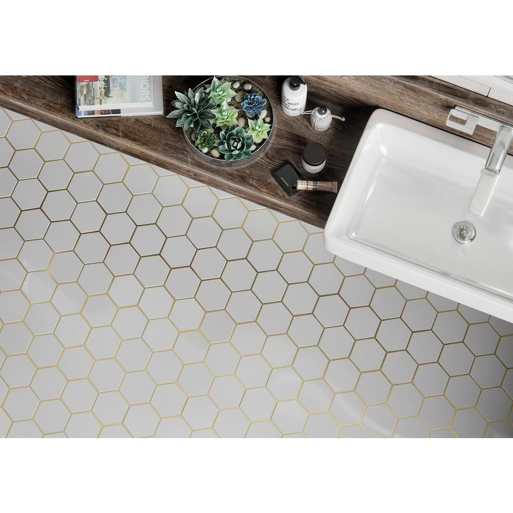Jeff Lewis Laurel Brass 8.625 in. x 15.125 in. x 9 mm Stone and ...