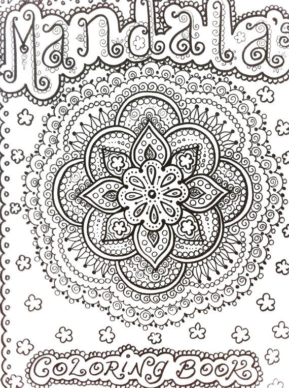 MANDALAS Henna Style Coloring Book To Color Let It Heal And Relax You Meditate Zen