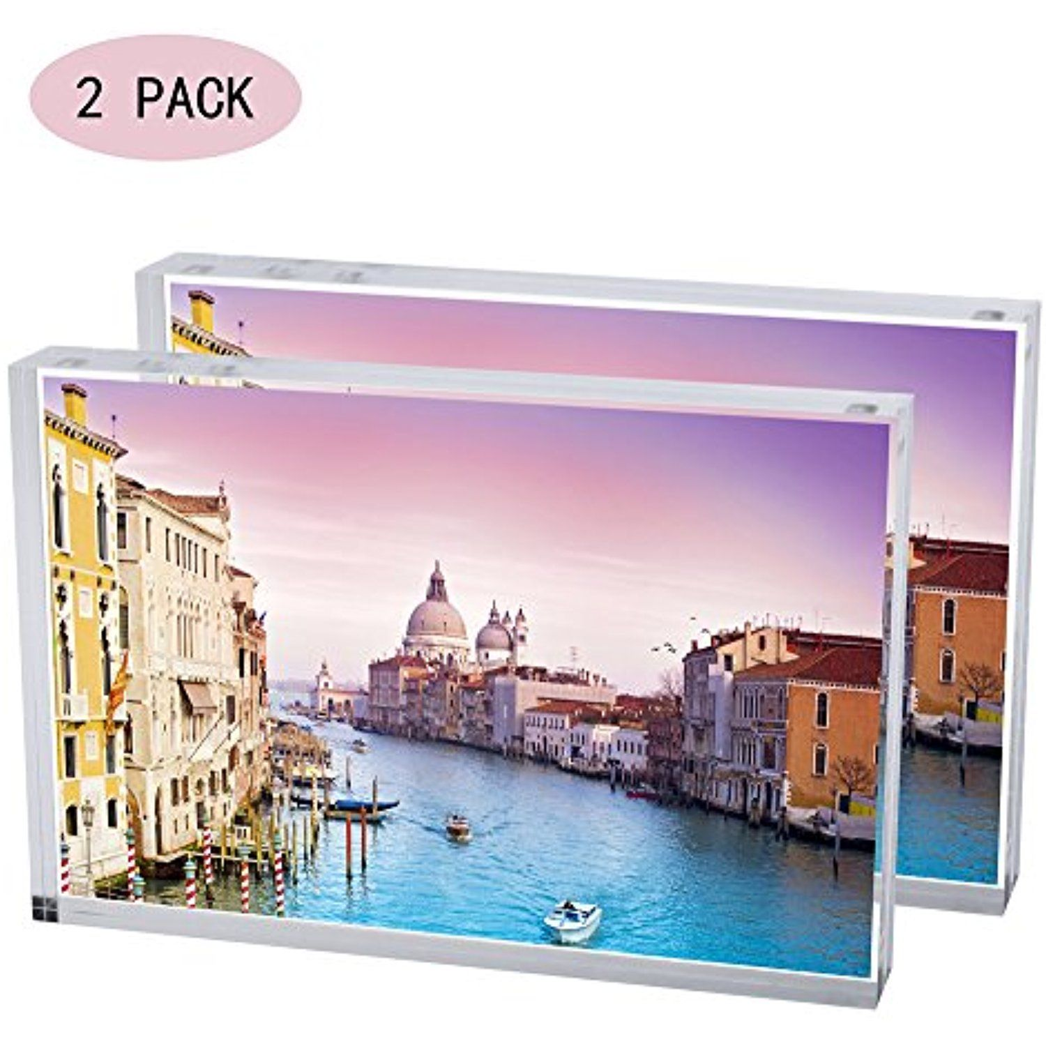 Display4top Acrylic Magnet Photo Frame Double Sided Clear Picture
