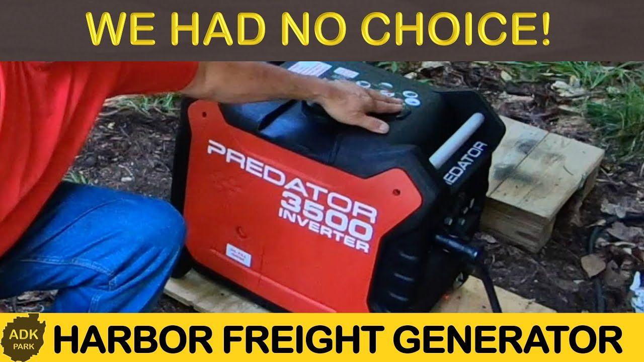Harbor Freight Predator 3500 Watt Inverter Generator WE