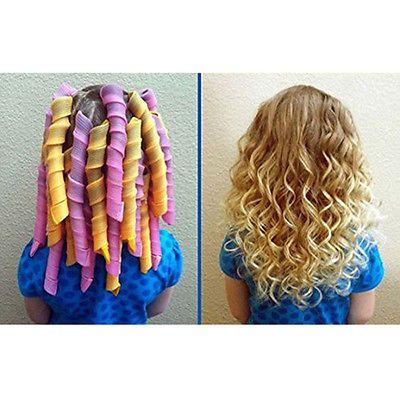 40 Pcs 55cm 22 034 Curl Diy Hair Curlers Tool Spiral Circle Magic Styling Rollers Diy Hair Curlers Magic Hair Curlers Hair Curlers