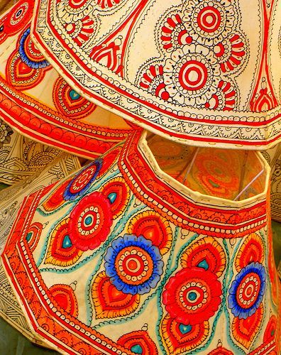 Handicrafts colorfull handpainted lampshades from indialove handicrafts colorfull handpainted lampshades from indialove these shades aloadofball Choice Image