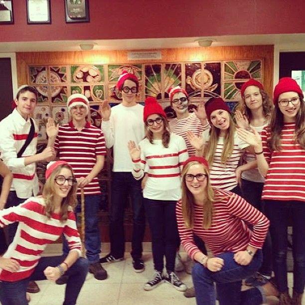 Have you seen Waldo? #bestgroupcostume #halloween #stripes # #repost