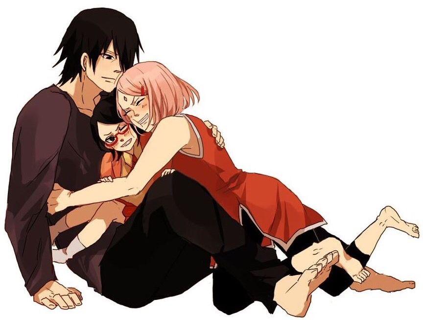 Sasuke and his girls sarada and sakura uchiha the - Naruto boards ...