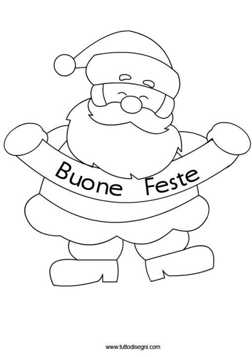 Disegni Di Natale Da Colorare On Line.Babbo Natale Buone Feste 2 Natale Babbo Natale Lettere Natale
