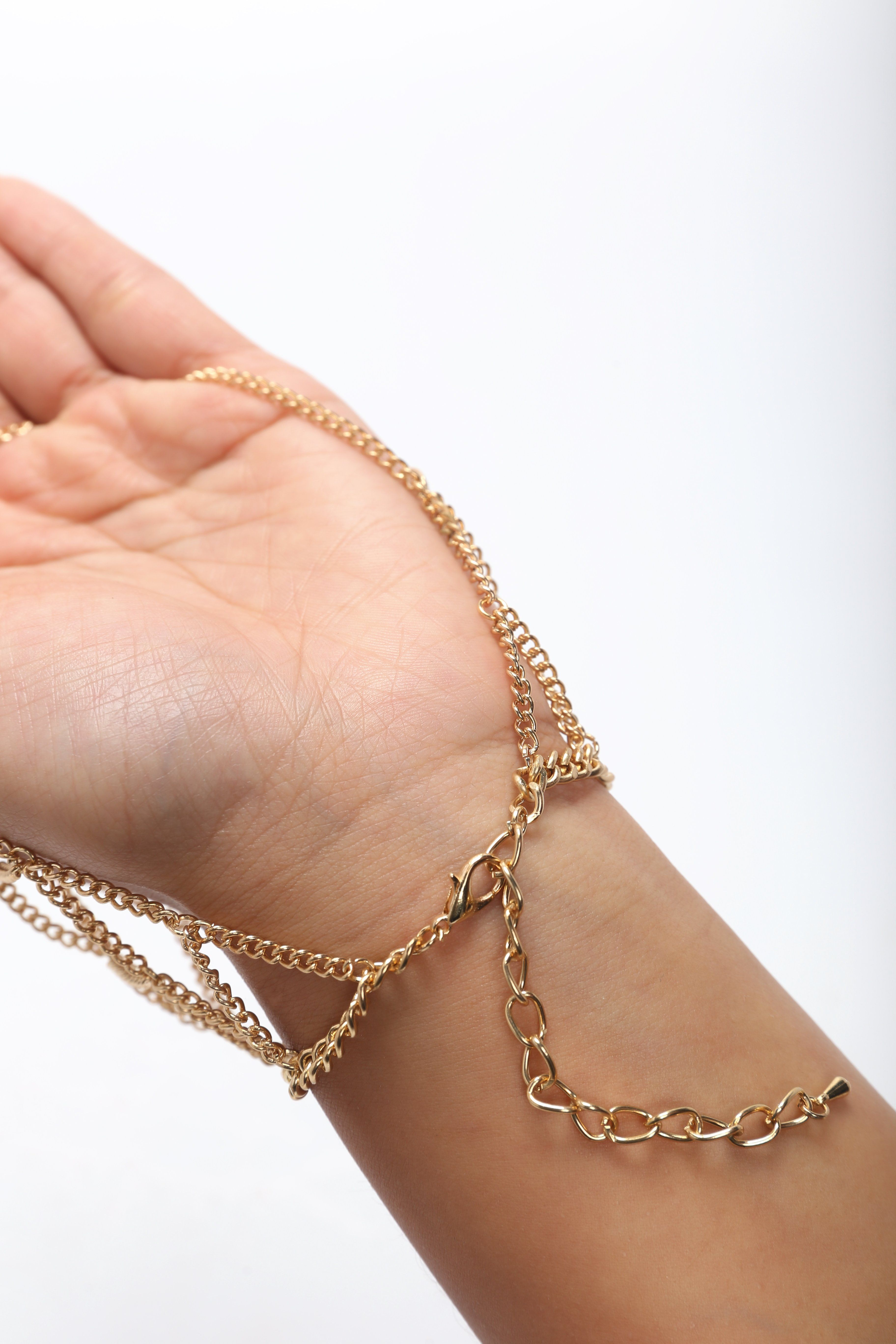 Helping Hand Chain Gold Hand chain, Body chain jewelry