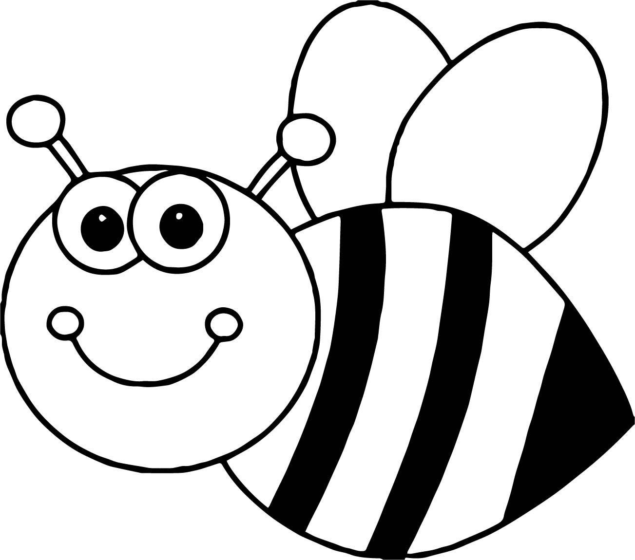 Cool Bee Coloring Cartoon Page Knutselen Voor Kinderen Knutselen Groep 3 Thema