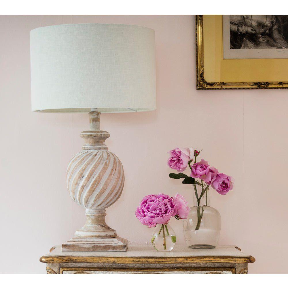 cornelia white table lamp shabby chic lamp