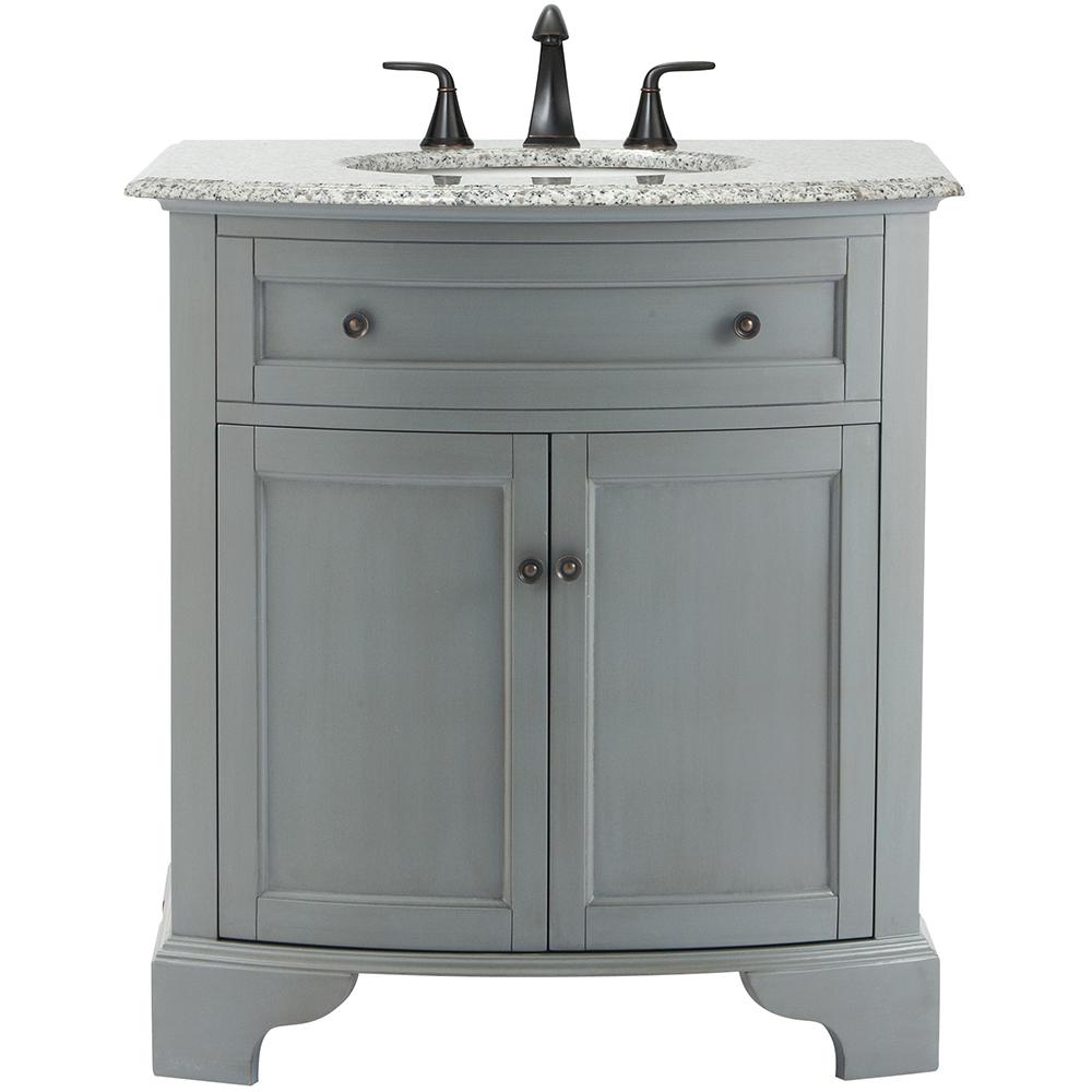 Home Decorators Collection Hamilton 31 In Vanity In Grey With