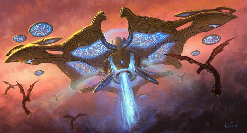 concept ships: Concept spaceship art from BLIZZARD entertainment
