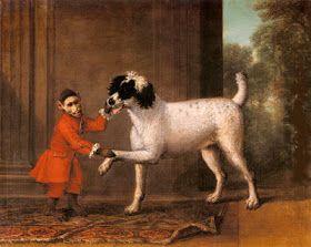 Huxtable The Poodle | Toy Poodle Blog | Parti Poodle: Poodle Art History: A Favorite Poodle and Monkey