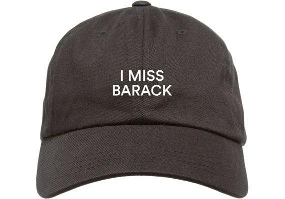 Black I Miss Barack Obama Low Profile Hat Dad Cap   Free Domestic ... 01480f0b75e3