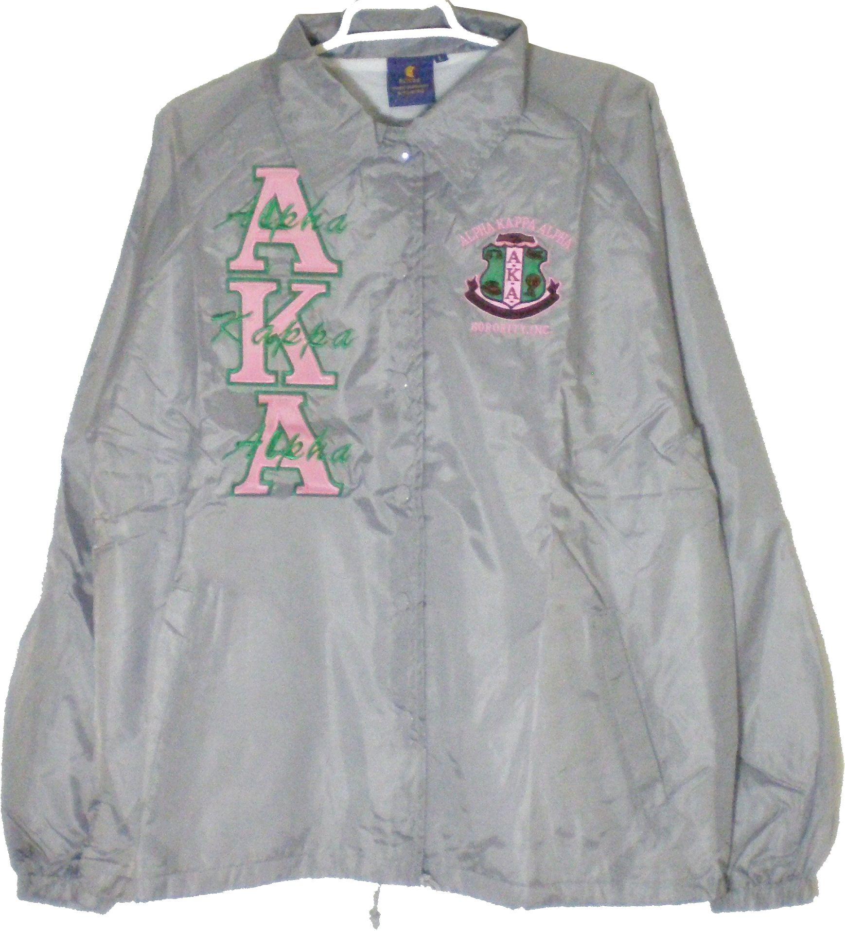 c7a137a2a Buffalo Dallas Alpha Kappa Alpha Ladies Crossing Line Jacket [Silver ...