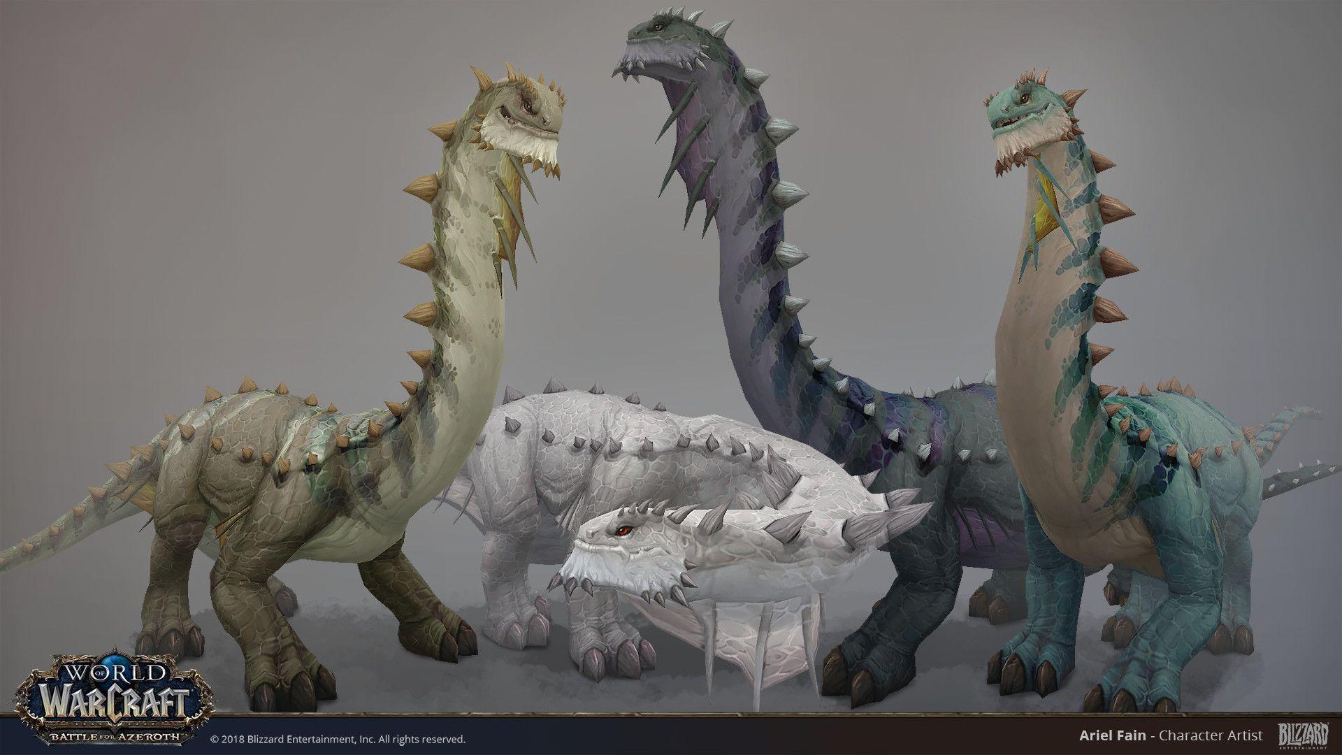 Artstation Bfa Brontosaurus Ariel Fain Warcraft Art Creature Design Drawing Illustrations