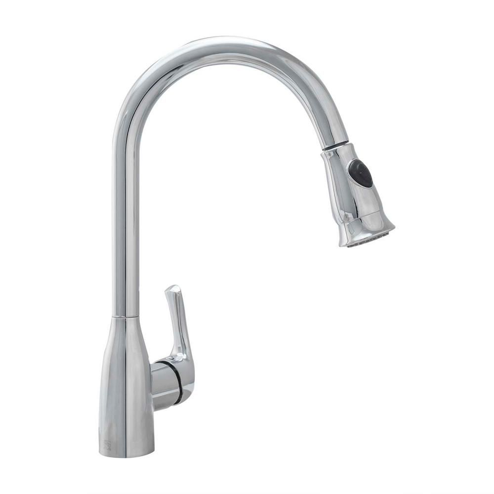 Cosmo Single Handle Pull Down Sprayer Kitchen Faucet With Ceramic