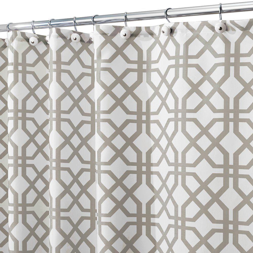 Interdesign Trellis Shower Curtain 72 X 72 Stone With Images