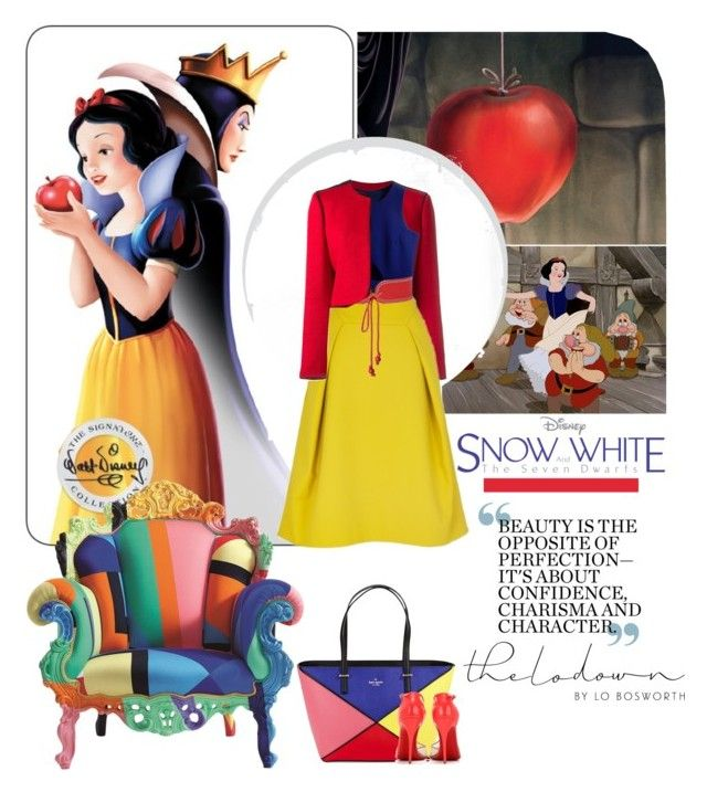 """Disney's Snow White and the Seven Dwarfs"" by serepunky ❤ liked on Polyvore featuring Lanvin, TIBI, Yves Saint Laurent, Kate Spade, Cappellini, Christian Louboutin, women's clothing, women's fashion, women and female"