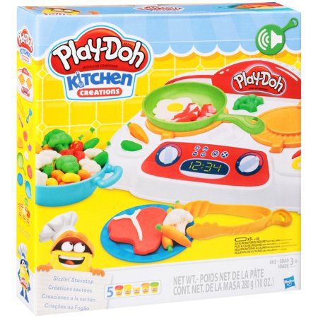 Play Doh Kitchen Creations Sizzlin Stovetop Food Set Multicolor