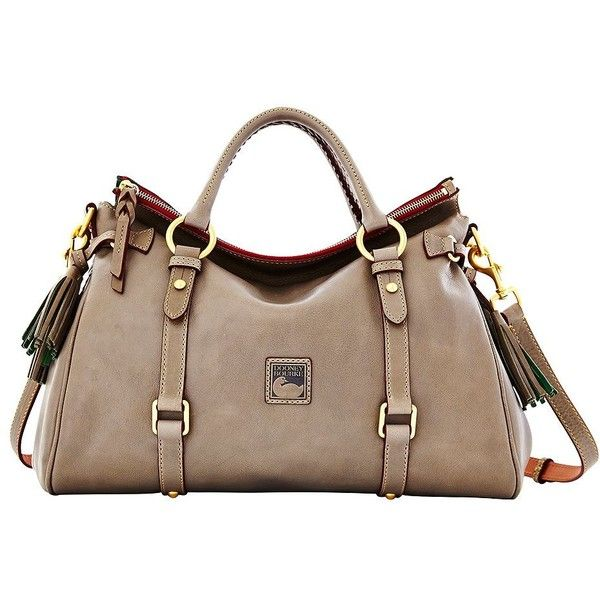 Dooney & Bourke Florentine Leather Satchel Bag ($398) ❤ liked on ...