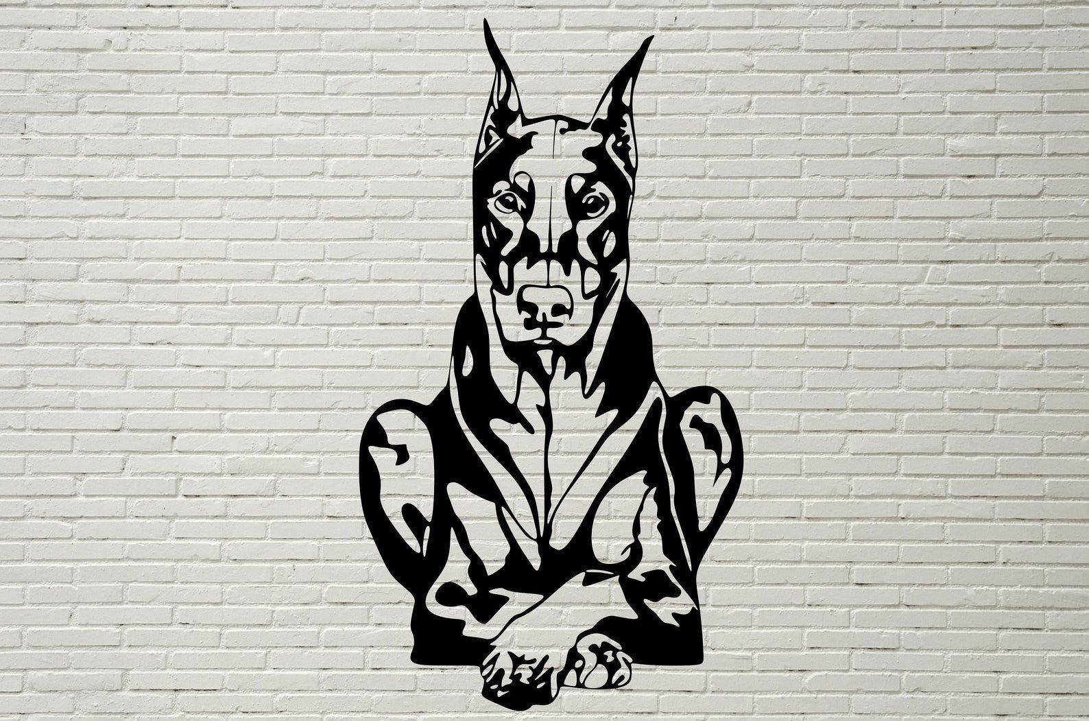 Doberman Pinscher Svg Doberman Clipart Dog Svg Files For Etsy