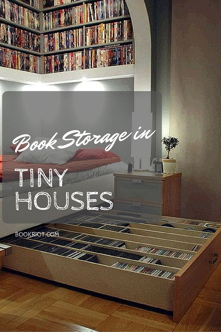 Book storage in tiny houses tiny home ideas pinterest house