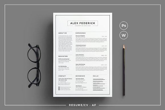Resume CV - AF @creativework247 Resume Fonts Pinterest - fonts for resume