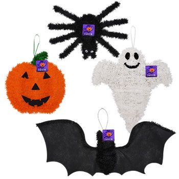Bulk Halloween Character Shaped Tinsel Decor at DollarTree - bulk halloween decorations