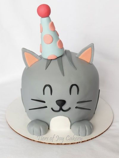 Birthday kitty cat cake. | Sculpted Cakes | Birthday cake for cat