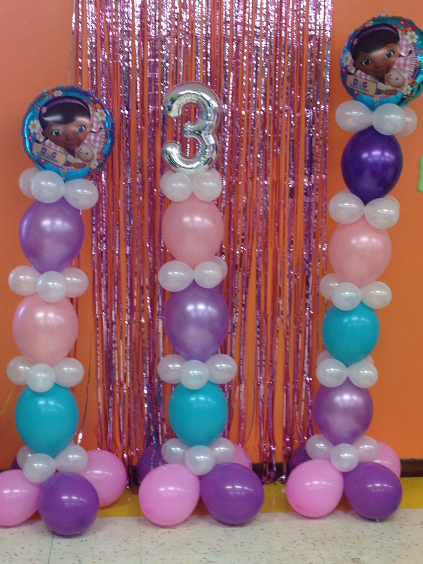 Balloon Link Columns By Juci For Doc Mcstuffins Party Uniquely Gifted