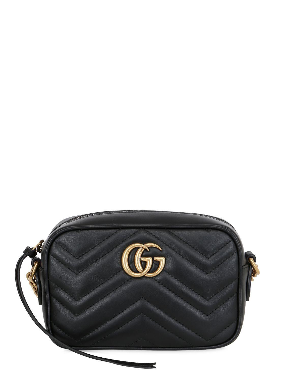Gucci mini gg marmont leather camera bag gucci bags shoulder