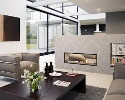 Image result for double sided fireplace