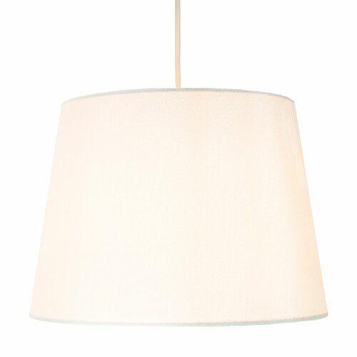 30cm Silk Shantung Drum Lamp Shade 17 Stories Colour White