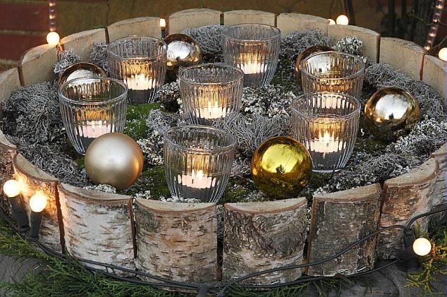 Décoration de Noël au jardin, stylisme Marie Marcat, Le Bois Pinard ...