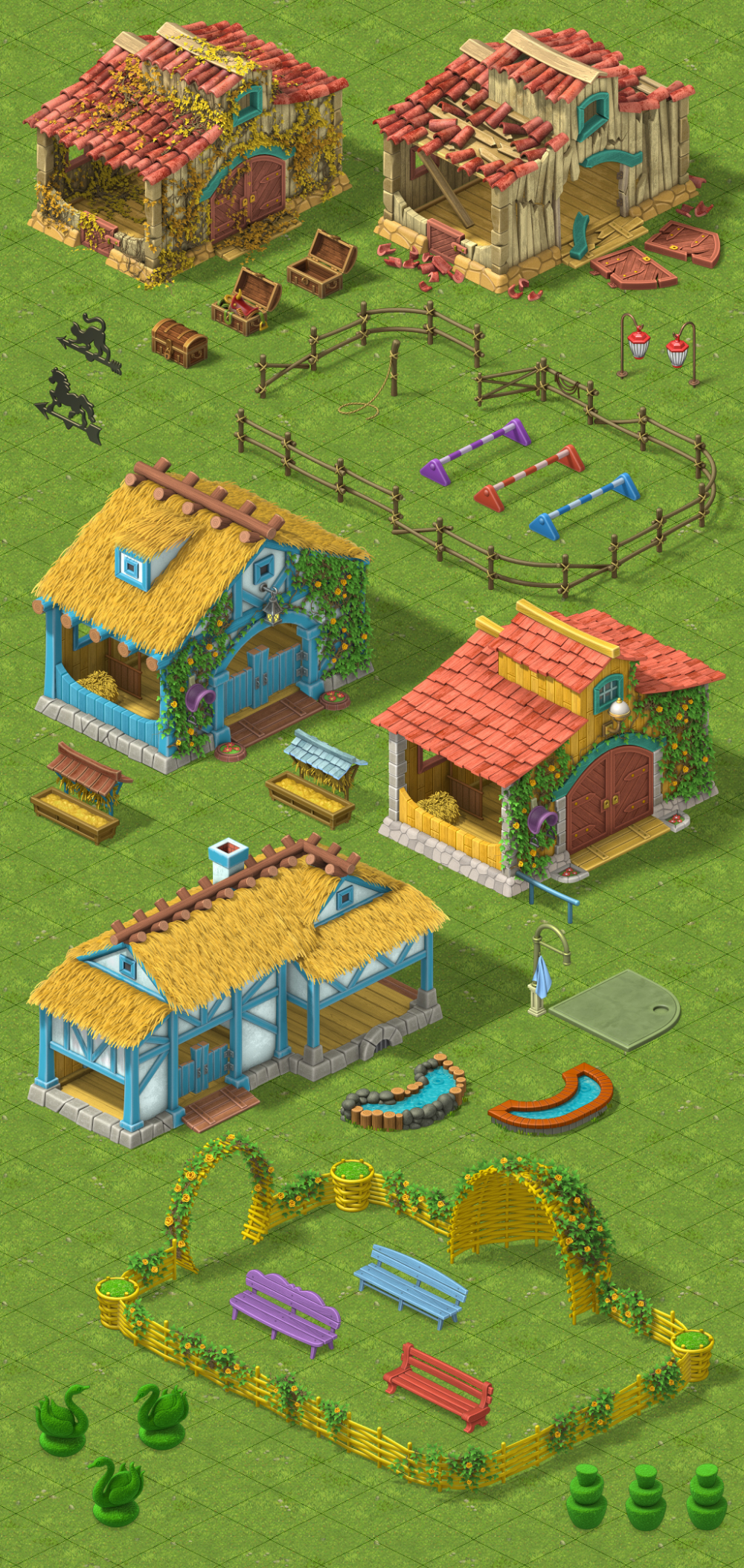 Gardenscapes (part1) on Behance