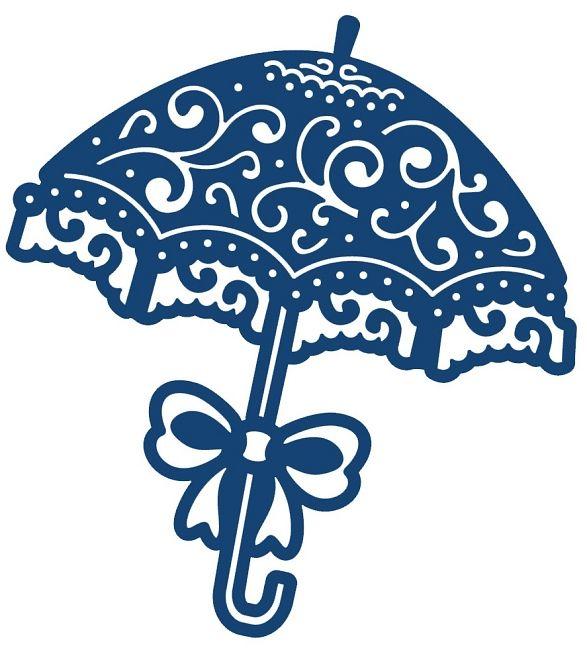 Umbrella Die Cut Stencil Heart Shower Craft Poppystamps Cutting Dies Parasol